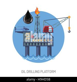 Oil drilling platform concept - Stock Photo