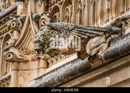 Gargoyles at historic Monasterio de San Juan de los Reyes. Toledo, Spain. - Stock Photo