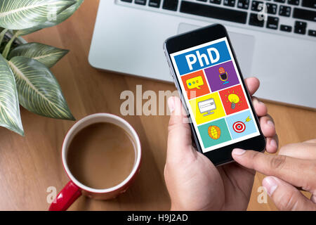 PhD Doctor of Philosophy Degree Education Graduation - Stock Photo