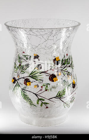 Branches And Acorns On Cracked Glass Vase Stock Photo 126401896 Alamy