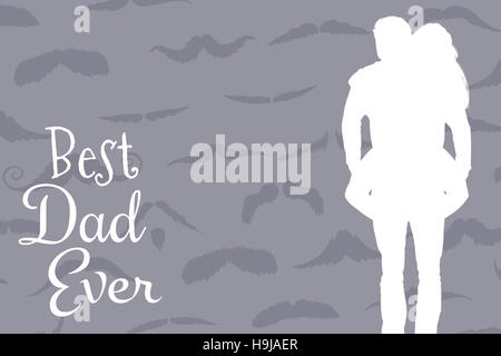 Composite image of handsome man giving piggy back to his girlfriend - Stock Photo