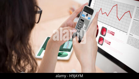 Composite image of make your own app smartphone - Stock Photo