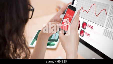Composite image of smartphone apps icons - Stock Photo