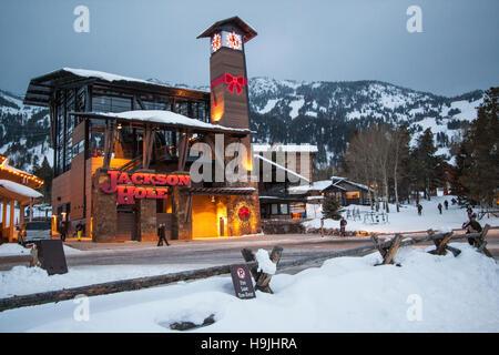 A Skiing Christmas - Stock Photo