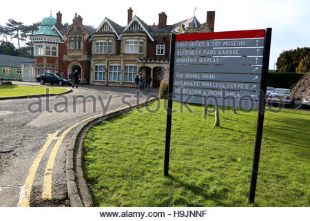 File photo dated 20/2/2013 of te Mansion House at Bletchley Park in Milton Keynes, Buckinghamshire. Bletchley Park, - Stock Photo