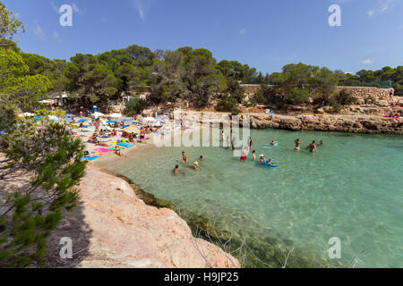 Spain, Balearic Island, Ibiza, Cala Gracioneta beach - Stock Photo