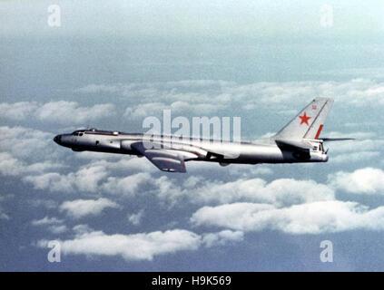 Soviet Tu-16 E aircraft. The Tupolev Tu-16, twin-engined jet strategic bomber used by the Soviet Union. - Stock Photo