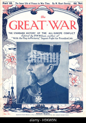 1916 The Great War front page General Roques - Stock Photo