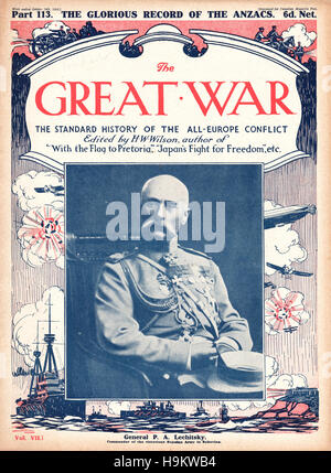 1916 The Great War front page General Platon Lechitsky - Stock Photo