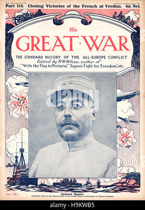 1916 The Great War front page General Duport - Stock Photo
