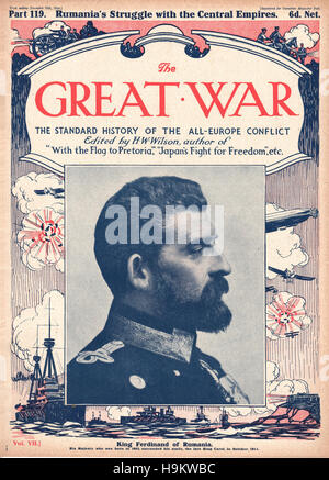 1916 The Great War front page King Ferdinand of Romania - Stock Photo