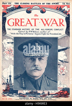 1917 The Great War front page Field Marshal Sir Douglas Haig - Stock Photo
