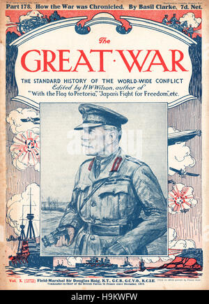 1918 The Great War front page Field Marshal Sir Douglas Haig - Stock Photo