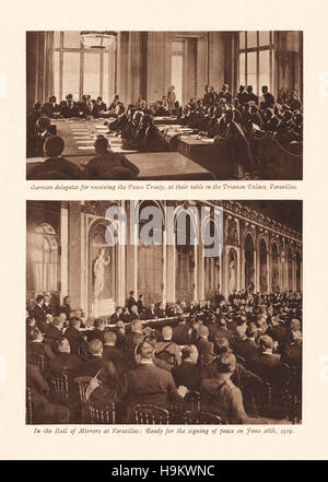 an analysis of the peace treaty of versailles signed in 1919 after the end of the great war The treaty of versailles was signed on june 28, 1919 and was a peace treaty at the end of world war i between the allies and germany it was signed precise.