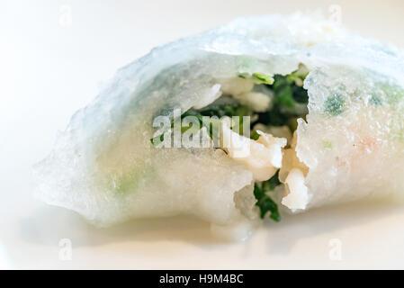 Chinese dim sum Hagao - Steamed Chinese groumet cuisine - Stock Photo