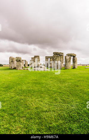 UK, England, Wiltshire, Stonehenge - Stock Photo