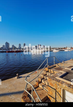 Uruguay, Maldonado Department, Punta del Este, View of the harbour. - Stock Photo