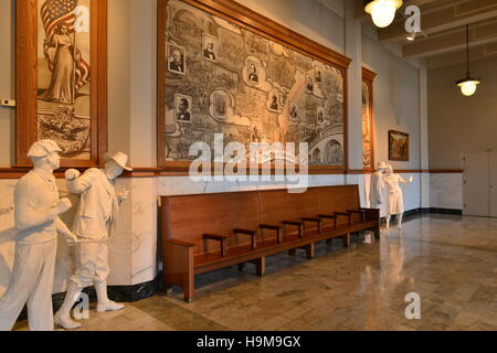 The old railway entrance foyer at Galveston in Texas. - Stock Photo