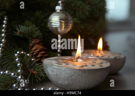 Silver Christmas Candles