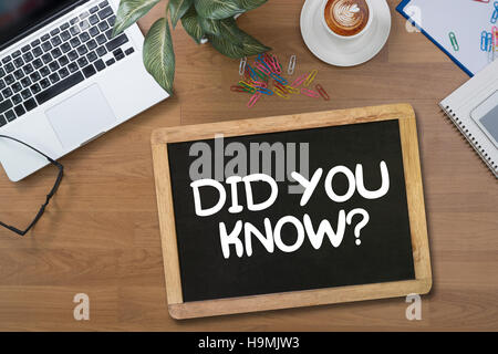 DID YOU KNOW? - Stock Photo