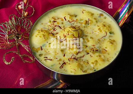 Rasmalai – A royal lip-smacking Indian Dessert, Pune, India - Stock Photo