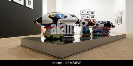 Large psyechedelic toadstools, auction of Japanese design at Phillips de Pury gallery, Westminster, London, UK. - Stock Photo