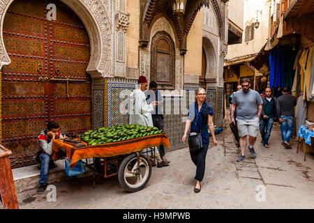 Life In The Medina, Fez el Bali, Fez, Morocco - Stock Photo