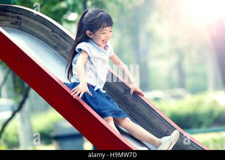The little girl slide - Stock Photo