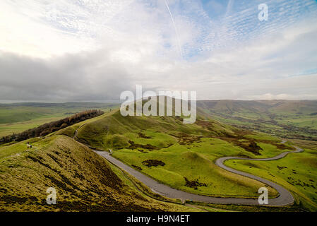 Winding Road Between Mountains - Stock Photo