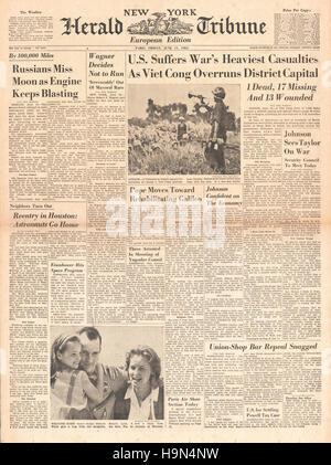 1965 New York Herald Tribune Vietnam War - Stock Photo