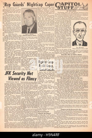 1964 Daily News (New York)  page 6 Warren Report into the assassination of President John F. Kennedy