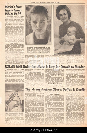 1964 Daily News (New York) page 16 Warren Report into the assassination of President John F. Kennedy