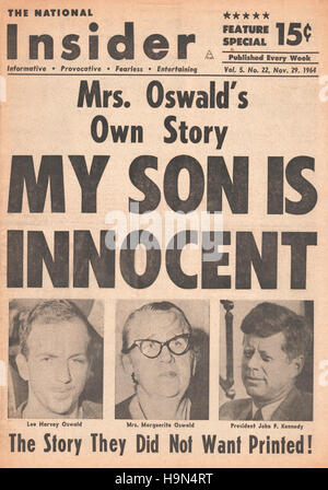1964 Daily News (New York) front page Marguerite Oswald says her  son is innocent
