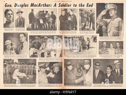 1964 Daily News (New York) centre page Death of General Douglas MacArthur