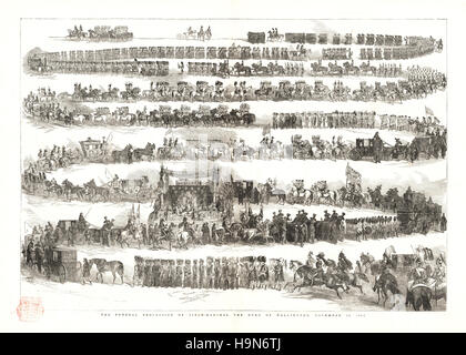 1853 Illustrated London News Funeral of the Duke of Wellington - Stock Photo