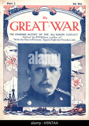 1914 The Great War front page Field Marshal Sir John French - Stock Photo
