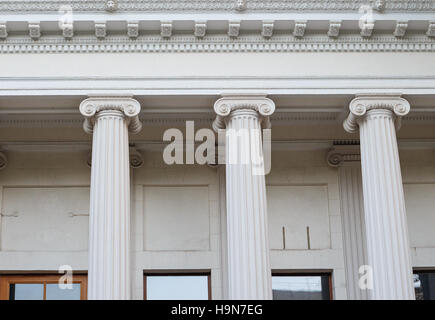 Greek Ionic columns, the ancient art of architecture - Stock Photo