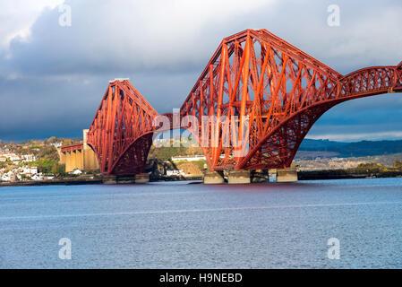 The Forth Railway Bridge Over the River Forth at Queensferry Edinburgh Scotland United Kingdom UK - Stock Photo