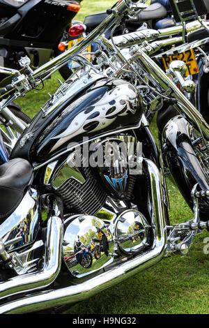 Custom Honda VTX Motorcycle - Stock Photo