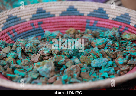 Turquoise  - New Mexico - Stock Photo