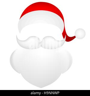 Template santa claus his mustache with a beard stock vector art template for photo mustache with a beard and cap of santa clau stock photo maxwellsz