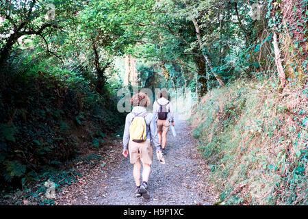 way of St james  the epilogue between Santiago and Finisterre. La Coruna, Spain - Stock Photo