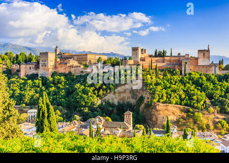 Alhambra of Granada, Spain. Alhambra fortress. - Stock Photo