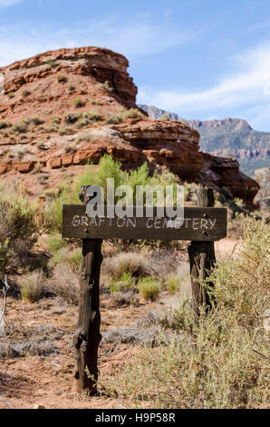 Cemetery in Grafton ghost town, Utah, USA. - Stock Photo