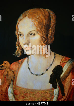 Albrecht Durer ( 1471 - 1528 ) Portrait of a young venetian 1505 - Stock Photo