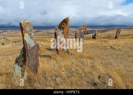 Prehistoric archaeological Karer site of Zorats, Sisian, Syunik Province, Armenia, Caucasus, Middle East, Asia