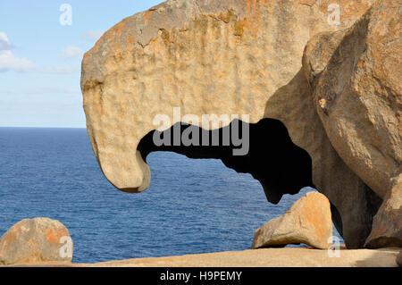 Strange rock formations at Kangaroo island south Australia - Stock Photo