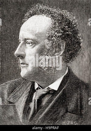 Sir John Everett Millais, 1st Baronet, 1829 – 1896.  English painter and illustrator, one of the founders of the Pre-Raphaelite Brotherhood.  Seen here aged 40.  From The Strand Magazine, Vol I January to June, 1891.