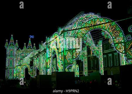 Street of light, George Sreet Edinburgh Scotland - Stock Photo