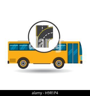 bus transport public type road vector illustration eps 10 - Stock Photo